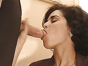 brunette blowjob cumshot hardcore milf mouthful full-movie