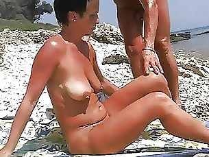 beach amateur pleasure mature masturbation