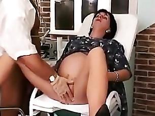 gang-bang hardcore blowjob milf brunette pregnant fingering