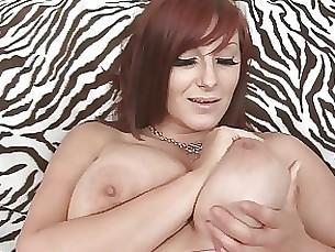 brunette milf playing