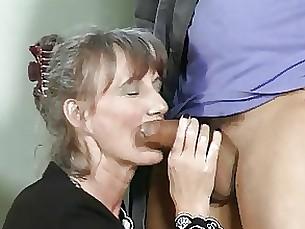 mature handjob