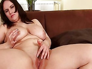 brunette boobs solo shaved milf masturbation kitty