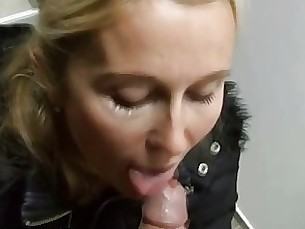 amateur blonde blowjob couple milf