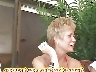 rimming party outdoor mature licking ladyboy granny ass