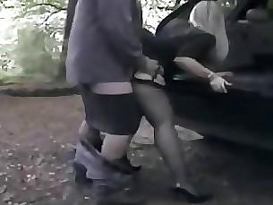 amateur doggy-style milf public threesome