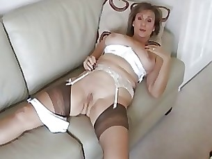 strapon stocking milf dildo amateur
