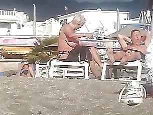 bbw beach milf