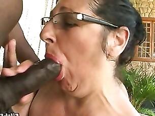 mature granny stunning blowjob hardcore interracial