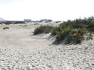 public milf doggy-style beach