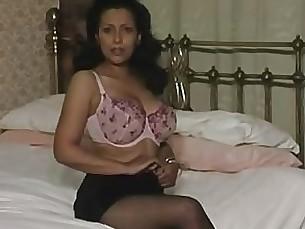 tease solo milf masturbation lingerie big-cock black