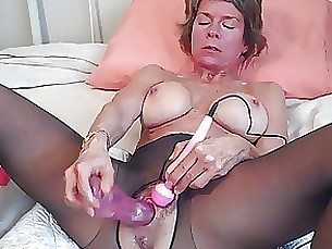 orgasm nylon muff milf latex