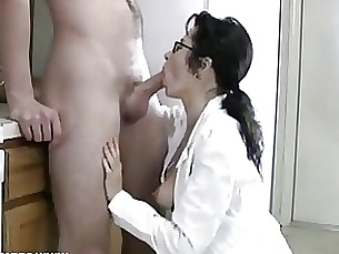 blowjob cumshot glasses milf mouthful full-movie ass