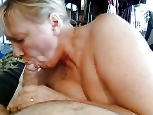 milf mouthful blowjob cute mature cumshot hot