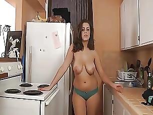 kitchen lingerie milf sister big-tits