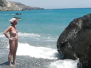 public mature beach