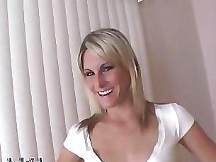 milf cumshot cheerleader blonde