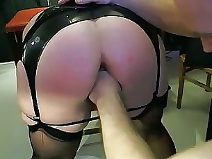 bdsm couple latex lingerie mature