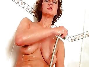 fuck masturbation fingering milf brunette pussy bathroom anal solo