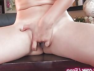hot masturbation mature milf playing solo