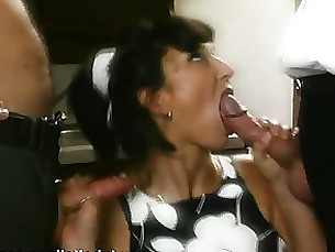 wife milf kiss brunette blowjob amateur
