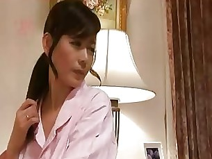 oral mammy japanese couple blowjob brunette milf