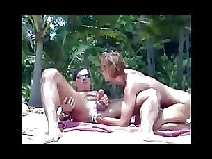 milf handjob blowjob beach