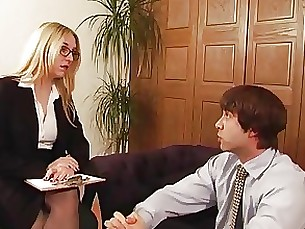 bdsm mature office slave spanking mistress