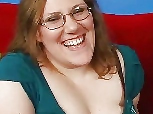 milf sucking bbw glasses blonde