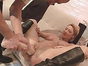 toys milf masturbation dildo couple blonde anal