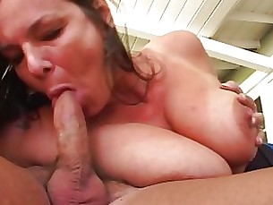 blowjob blonde mature mammy inside cumshot couple brunette