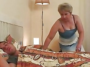 big-tits blonde granny mature