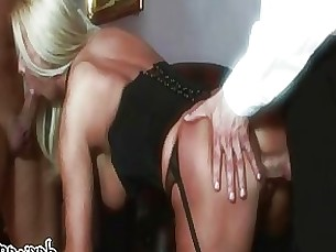 threesome pornstar milf lingerie fuck blowjob blonde beauty anal