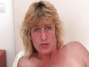 blonde toys solo pussy milf mature masturbation granny fingering