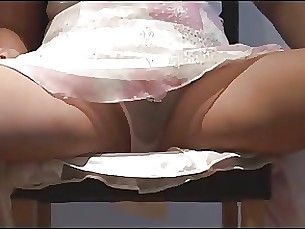 babe striptease oil mature masturbation boobs
