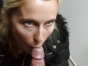 blowjob couple milf public