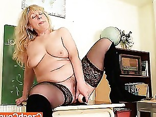 fuck masturbation mature solo teacher tease toys wife