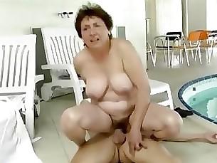 cumshot fuck granny hardcore mature milf threesome