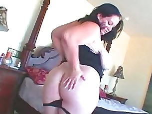 toys tease milf masturbation fatty bbw dildo uniform