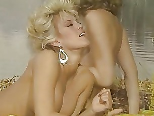 blonde boobs lesbian lingerie milf toys