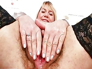 bus busty crazy hairy masturbation mature pussy solo blonde
