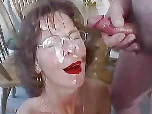 amateur blowjob crazy cumshot facials mature milf