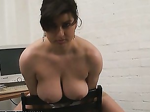 secretary office masturbation dildo boobs big-tits funny