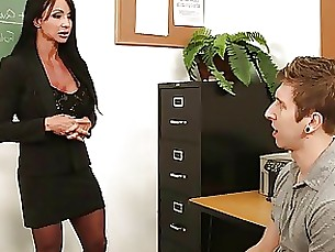teacher milf mature brunette ass