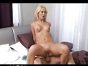 blonde blowjob big-cock horny milf shaved threesome