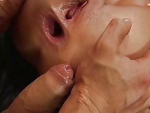anal blowjob brunette couple milf