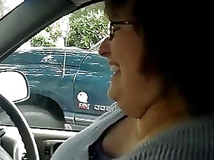 mature handjob bbw car amateur wife