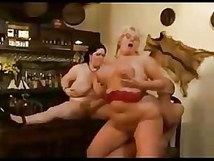 bbw threesome orgy mature