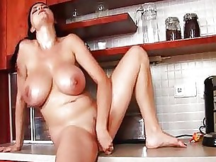 solo pornstar natural milf masturbation boobs black big-tits beauty