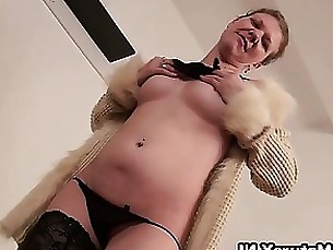 wife striptease solo mature masturbation horny hardcore granny dildo