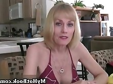 wife beauty blonde cumshot facials hot housewife mature pov